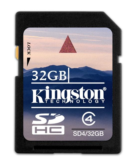 Kingston 32GB kapasiteli SDHC bellek kartını duyurdu