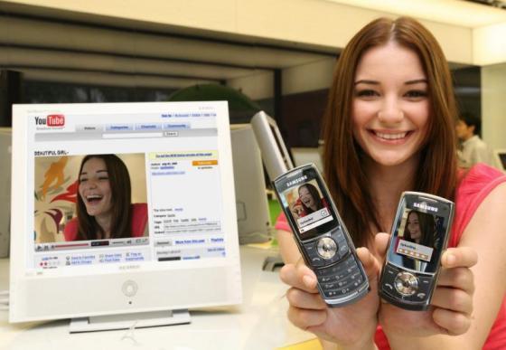 Samsung'un yeni telefonu SGH-L760 ile videolarınız Youtube'a