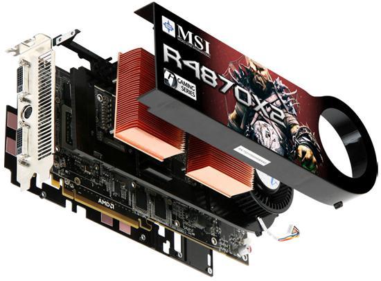 MSI'ın çift grafik işlemcili Radeon HD 4870 X2 modeli göründü