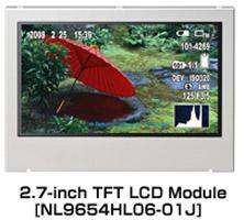 Nec, 2.7 inç Q-HD uyumlu LCD modülü üretiyor