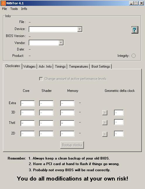 Nvidia BIOS Editor (NiBiTor) v4.1 yayınlandı
