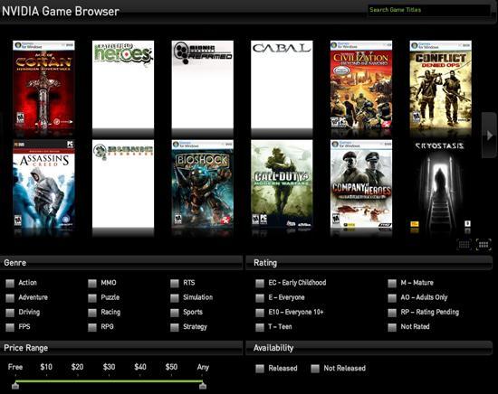 Nvidia yeni oyun gezginini kullanıma sundu