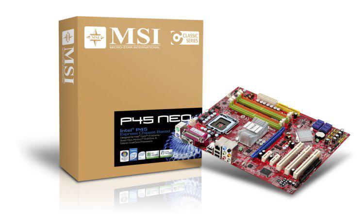 MSI'ın P45 çipseti için başlangıç modeli; P45 Neo