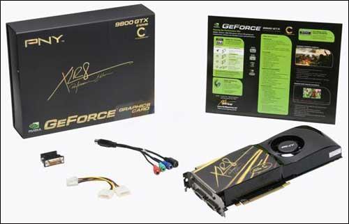PNY'den fabrika çıkışı hız aşırtılmış GeForce 9800GTX XLR8