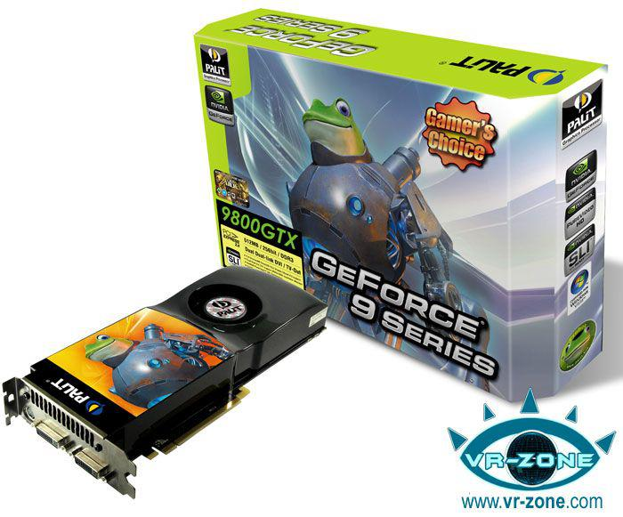 Palit GeForce 9800GTX modelini duyurdu