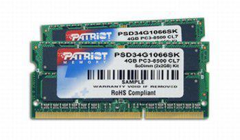 Patriot'dan Intel'in Centrino 2 platformu için yeni DDR3 bellekler