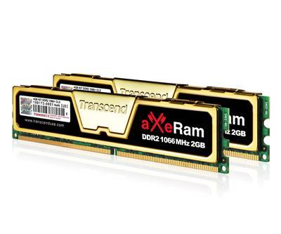 Transcend'den 4GB'lık aXeRam DDR2-1066 bellek kiti