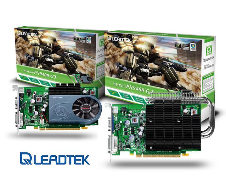 Leadtek aktif ve pasif soğutmalı GeForce 9400GT modellerini duyurdu