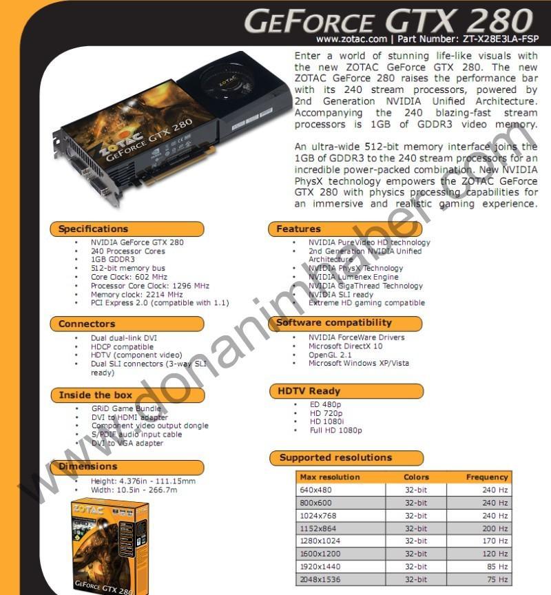 DH Özel: ZOTAC ve Asus'un GeForce GTX 280 modelleri