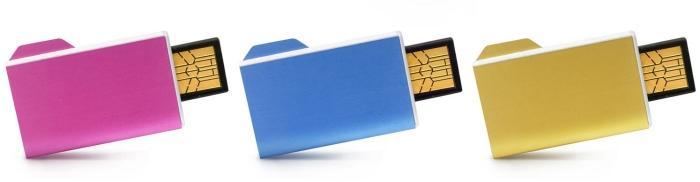 Art Lebedev'den klasör tipi USB bellek; Folderix