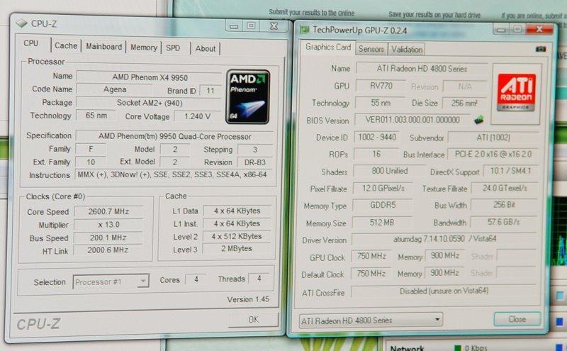 AMD'nin 2.6GHz'de çalışan yeni işlemcisi Phenom 9950 göründü