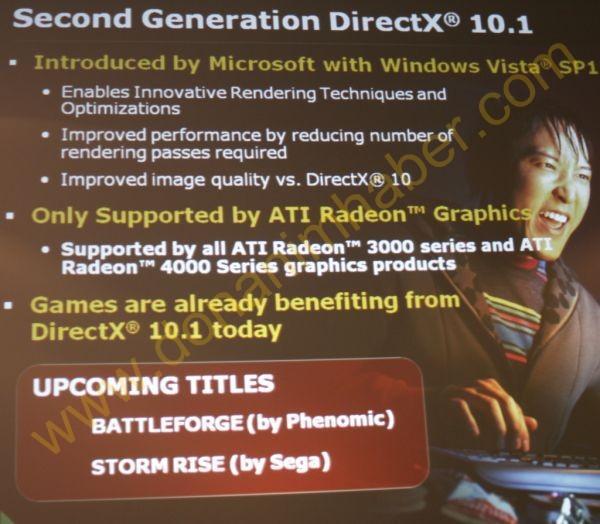 ATi, DirectX 10.1 destekli iki yeni oyun duyuracak