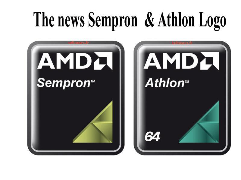 AMD Athlon ve Sempron logolarını güncelledi