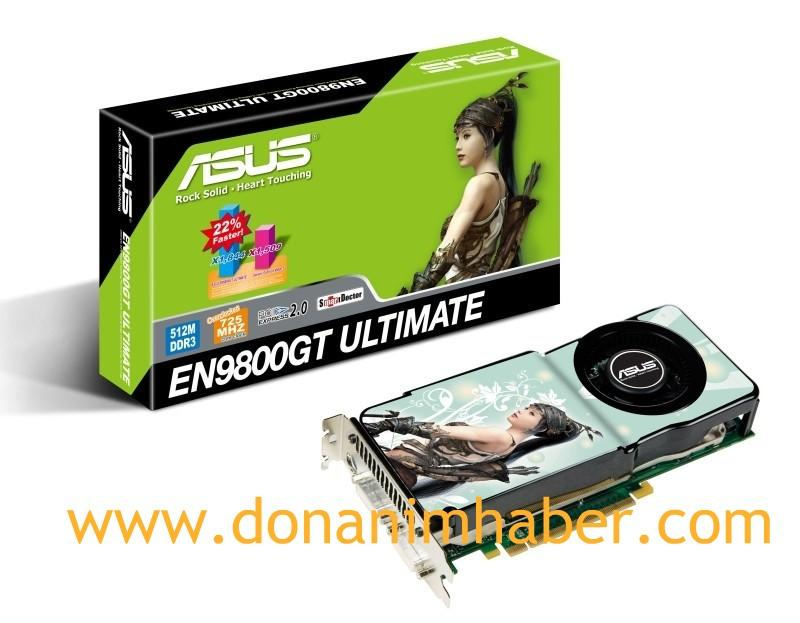 DH Özel: Asus GeForce 9800GT Ultimate'in görsel ve özellikleri ortaya çıktı