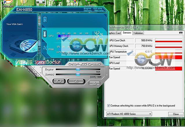 ATi Radeon HD 4850 için fan hızı desteği sunan ilk yazılım Asus SmartDoctor