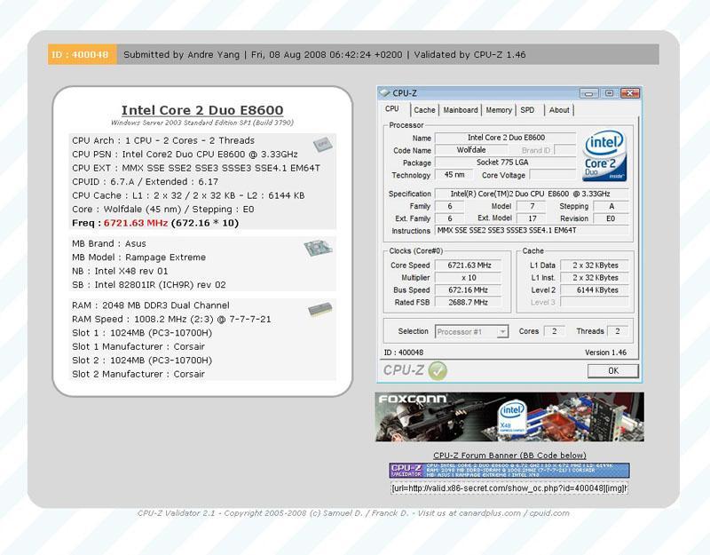 Core 2 Duo E8600 ile yeni dünya rekoru; 6.7GHz