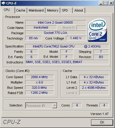CPU-Z v1.47 kullanıma sunuldu