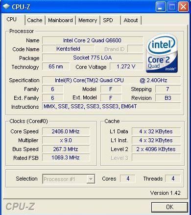 CPU-Z v1.42 kullanıma sunuldu