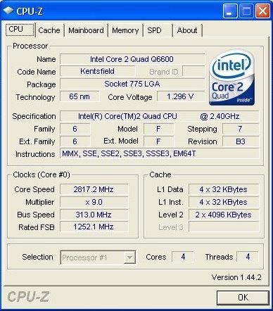 CPU-Z v1.44.2 kullanıma sunuldu