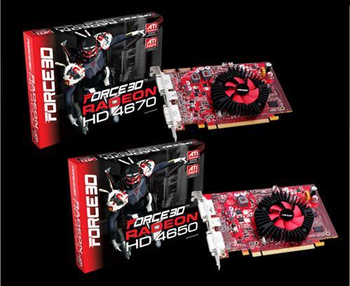 Force3D Radeon HD 4600 serisi ekran kartlarını duyurdu