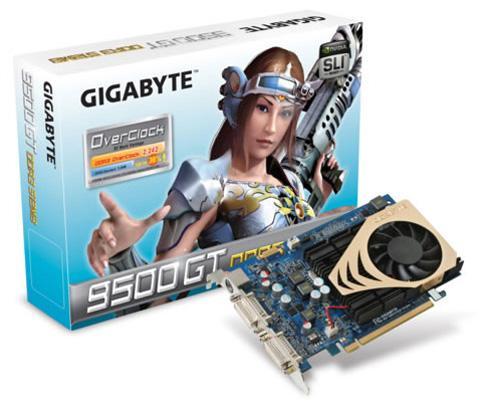 Gigabyte'dan fabrika çıkışı hız aşırtmalı yeni GeForce 9500GT