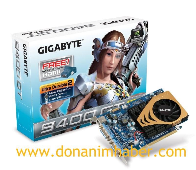 Gigabyte'ın GeForce 9400GT modeli gün ışığına çıktı