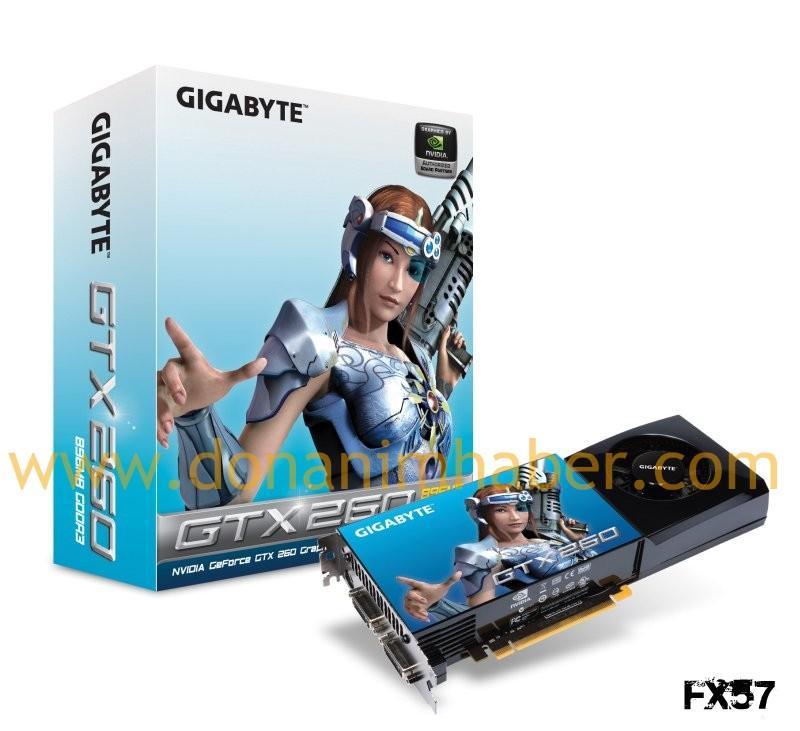 Gigabyte GeForce GTX 260 üzerindeki örtüyü kaldırdı