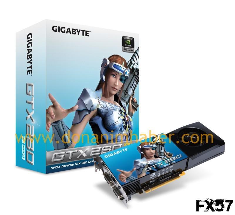 Gigabyte'ın GeForce GTX 280 modeli hazır