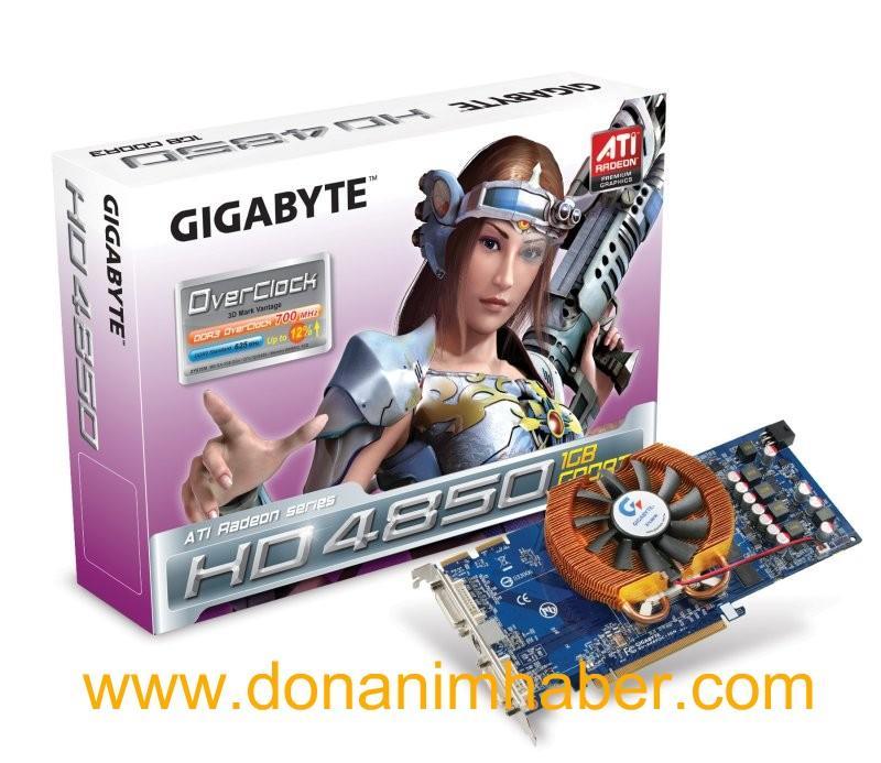 Gigabyte'dan Zalman soğutmalı ve 1GB bellekli HD 4850 geliyor