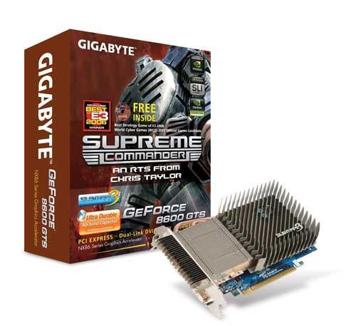 Gigabyte'dan pasif soğutmalı GeForce 8600GTS geliyor