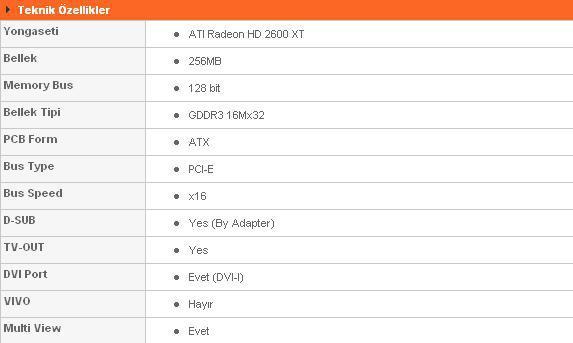 Gigabyte Radeon HD2600XT 256MB GDDR3 SilentPipe II