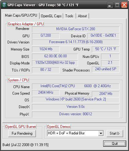 GPU Caps Viewer 1.5.0 kullanıma sunuldu