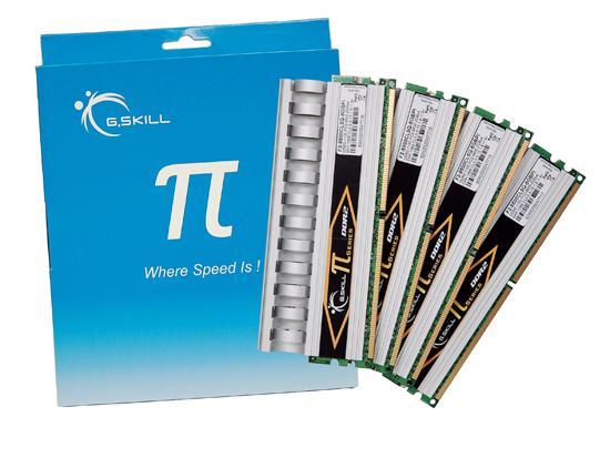 G.Skill'den 4GB ve 8GB'lık Pi serisi DDR2-1100MHz bellek kitleri