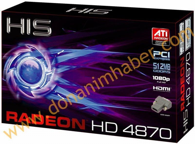 HIS'in Radeon HD 4870 modeli hazır