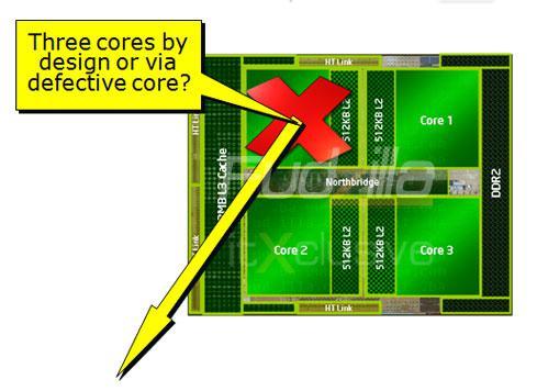 Intel'in hedefinde AMD'nin üç çekirdekli Phenom 8000 serisi var