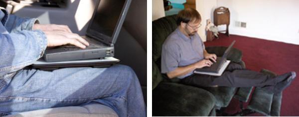 Lapinator ile bacaklarınızı diz üstü bilgisayarınızın ısısından koruyun