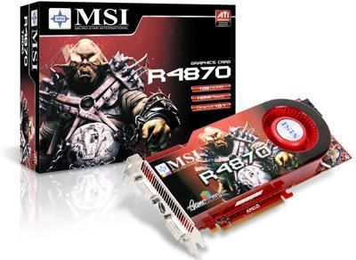 MSI 1GB GDDR5 bellekli Radeon HD 4870 modelini duyurdu