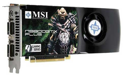 MSI GeForce 9800GTX Plus modelini duyurdu