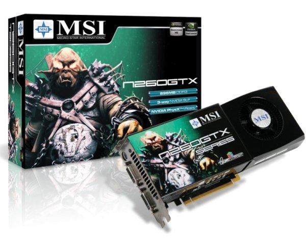MSI GeForce GTX 260 ve 280 modellerini duyurdu
