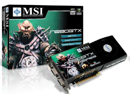 MSI GeForce GTX 280 Super OC modelini duyurdu