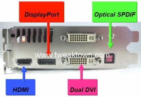 Bazı GeForce 9600GT modellerinde DVI, HDMI ve Displayport desteği olacak