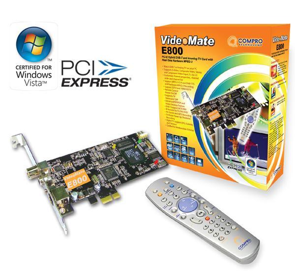 Compro'dan PCIe X1 uyumlu yeni TV kartı