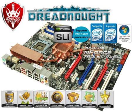 Foxconn nForce 790i SLI çipsetli yeni anakartı Dreadnought'u resmen duyurdu