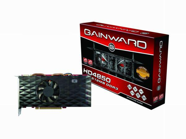 Gainward Radeon HD 4850 Golden Sample modelinde 0.8ns bellek kullanıyor