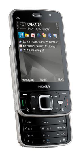 Nokia N96; N serisinin yeni amiral gemisi güçlü özellikleriyle dikkat çekiyor