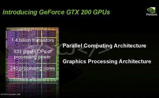 Nvidia'nın yeni nesil grafik işlemcisi GT200 1.4 milyar transistöre sahip