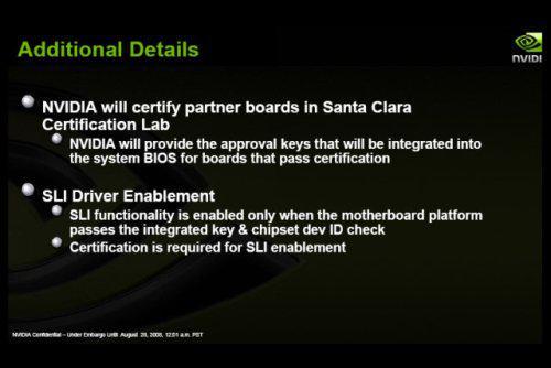 Nvidia SLI teknolojisi için son noktayı kodyu; Intel platformunda doğal SLI desteği