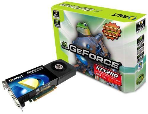 PNY ve Palit GeForce GTX 280 modellerini duyurdu