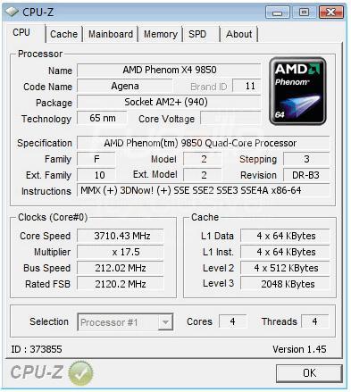 AMD Phenom X4 9850 için yeni overclock rekoru 3.7GHz