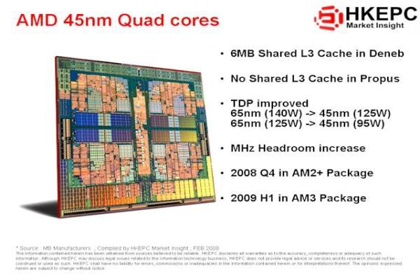 AMD'nin 45nm Phenom'ları yılın ikinci yarısında, 65nm B3 revizyon işlemciler ise 2.çeyrekte geliyor